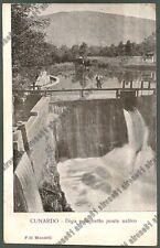 VARESE CUNARDO 25 DIGA LAGHETTO PONTE Cartolina viaggiata 1910