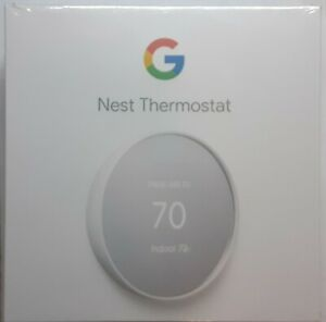 Google Nest Thermostat G4CVZ Smart Thermostat WiFi - Snow. New In Box Sealed