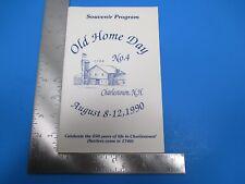 Vintage 1990 Old Home Day Charlestown NH Souvenir Program 250 year Anniv. S3817