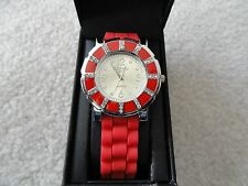 New - Figaro Couture Quartz Watch - Red and Silver in Color