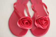 NEW Valentino Rose Jelly Thong Sandal Flip Flop - Fuschia Pink - 6US / 36 (Z14)