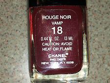 Chanel Vernis ROUGE NOIR VAMP #18 Polish VAMP TRILOGY COLLECTION Super RARE NEW!