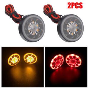 Motorcycle Tail Light 2× Red/yellow LED Brake Stop Lamp Turn Signal Waterproof