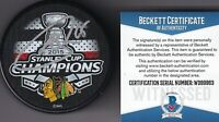 BECKETT ANDREW SHAW SIGNED 2015 CHICAGO BLACKHAWKS STANLEY CUP CHAMPIONS PUCK 63