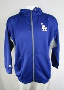 Los Angeles Dodgers MLB Majestic Men's Big & Tall Full-Zip Sweatshirt