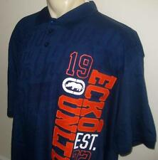 NEW 5XB ECKO UNLTD MENS POLO SHIRT Navy Blue Orange Short Sleeve 5X 5XL