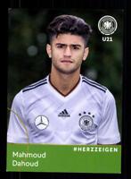 Mahoud Dahoud  DFB Autogrammkarte U 21 2018 +A 181604