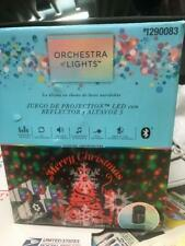 New Orchestra Of Lights Christmas LED Projection Set 5 Spotlights & Speaker Show