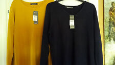 """""""BON MARCHE"""" TWO LADIES JUMPERS.NAVY & MUSTARD,SIZE M(38).RETAIL PRICE £24.00"""