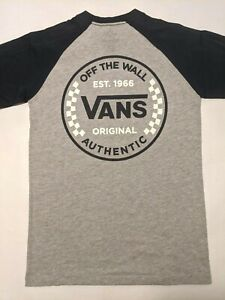 Vans New Authentic Checker Raglan Dress Blues  T-Shirt Boy's Medium 10-12