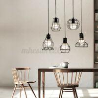 Vintage Retro Lampshade Pendant Trouble Light Bulb Guard Cage Ceiling  H