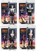 "KISS 8"" retro figures DESTROYER Album series 7 YOU GET 1 full set of 4 NEW! MIP!"