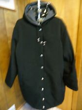 Womens 1X Outdoor Elements Black Quilted 3/4 Length Coat