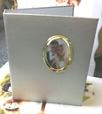 """SILVER 5""""X7"""" Photo Album 3 RING 2 up  with 50 pages holds 200 photos"""