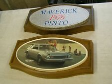 Oem Ford 1976 Pinto Showroom Display Picture Pair Set