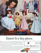 Vintage Doll in Wedding Dress AMERICAN CYNANAMID FABRICS 1949 Magazine Print Ad