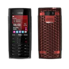 silicone case TPU transparent für Nokia X2-00, Farbe: Schwarz