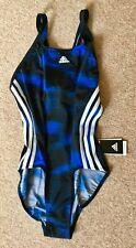ADIDAS LADIES BLUE & BLACK INF EFP1 1PC SWIMSUIT / SWIMMING COSTUME SIZE 38