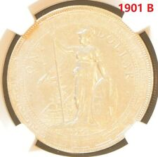 1901 B China Hong Kong UK Great Britain Silver Trade Dollar NGC AU Details
