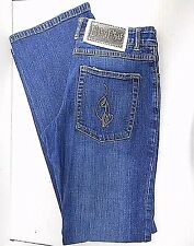BABY PHAT- LADIES DISTRESSED BLUE STRETCH DENIM JEANS - USA WOMENS SIZE 9