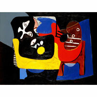Gorky Still Life Abstract Expressionist Painting XL Canvas Art Print