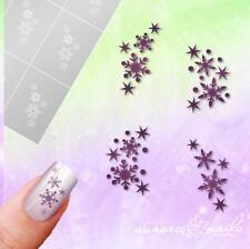 Schablonen Airbrush + Nailart SET85 Winter Schneeflocke Stern selbstklebend SET