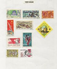 Vietnam Stamps on old Stamp Album Page ASIA