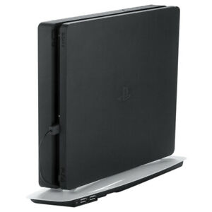 Cooling Pad Stand for PS4 Slim with USB Slots Fan Black Playstation Vertical