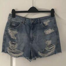 Topshop Blue Denim Mom Mum Shorts Size 12
