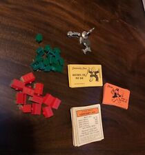 SHIPS FREE! 1973 Monopoly Extra Pieces - Tokens, Hitels, Houses & Cards