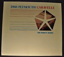1988 Plymouth Caravelle Sales Brochure Folder SE Excellent Original 88