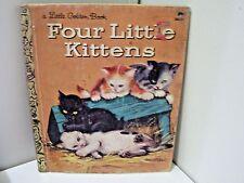 FOUR LITTLE KITTENS Vintage Children's Little Golden Book 15th printing