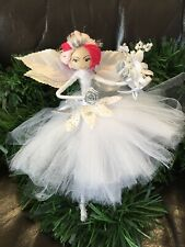 Handmade Heirloom/fairy/Angel/Decoration/Christmas Tree/white/silver/princess