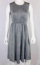 HALOGEN Women's Dress Size 0P Gray Sleeveless Petite Side Zip Deco Waistband