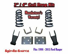 "1998 - 2015 Ford Ranger 4 Cylinder EXT Cab 2WD 3"" / 4"" Drop Lowering Kit Coils"