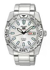 Runde Seiko 5 Armbanduhren aus Edelstahl
