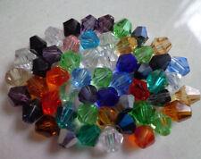 Wholesale!100-1000pcs 4/6/8mm crystal 5301# Bicone Beads, U Pick color