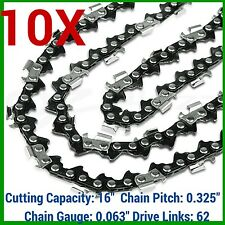 "10X CHAINSAW CHAIN 325 063 62DL FOR STIHL 16"" MS231 MS231CB-E MINIBOSS WOODBOSS"