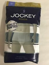 3 Pack of Jockey Pouch H Fly Briefs, Stretch Cotton, Greens, XL (40-42)