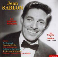 Jean  SABLON  / Le Crooner Français / (1 CD) / Neuf