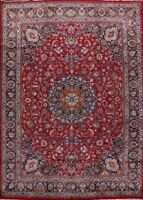 RED Traditional Floral 10x13 Kashmar Area Rug Hand-Knotted Living Room Carpet