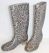 Lower East Side Leopard Rain Wellies Waterproof Garden Boots Size 7