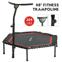 """48"""" Foldable Mini Fitness Trampoline Rebounder Exercise Workout Indoor Outdoor"""