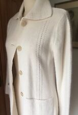 Vintage Talbots Ivory ALPACA Sweater Duster Coat Size Small