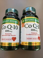 NATURE'S BOUNTY Co Q-10 400mg 78 SOFTGELS (2 BOTTLES of 39 each) Exp:09/2022