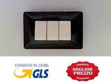 PLACCA NERA  3M COMPATIBILE CON BTICINO MATIX NERA
