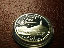 .900 USA SILVER PROOF QUARTER 2006 S Nebraska State, with acrylic HOLDER