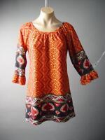 60s 70s Moroccan Desert Boho Sweater Knit Frill Sleeve 126 mv Dress S M L XL