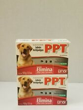 2X Ppt Jabon Antipulgas | 100g Dog and Cat Flea Treatment .
