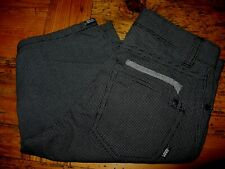 """Vans Charcoal Two Tone Small Checkered Shorts Boy Size 8-25"""" Waist 9"""" Inseam"""